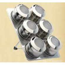 Stainless Steel Magnetic Spice Rack (CL1Z-J0604-6I)