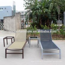 Алюминиевый слинг мебель Открытый плавательный бассейн расслабляющий шезлонг