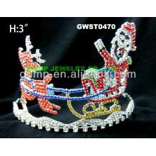 Tiara y corona del reno de la Navidad
