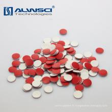 8 * cloison en silicone rouge PTFE blanc de 1,5 mm pour les flacons auto-échantillons Shimadzu