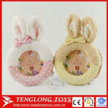 Marco lindo lindo decorativo de la foto del bebé del conejo