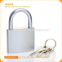 Factory Direct Sale Cheap Silver Painted Iron Padlock