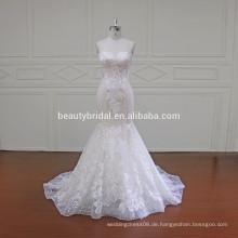 XF16011 trägerlose Stile passen und Flare Brautkleid Meerjungfrau Brautkleid für Frauen