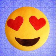 ICTI BSCI Compliqué emoji coussin en peluche en peluche
