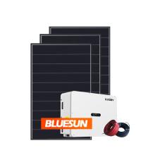 Bluesun 380V 100KW 500KW Grid Tie Inverter Solar System On Grid Solar Panels System Kit for Home