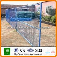 PVC-beschichteter, verzinkter, vorübergehender beweglicher Zaun