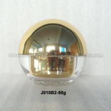 50ml Gold Metalized Acrylic Cream Jar with Ball Shape