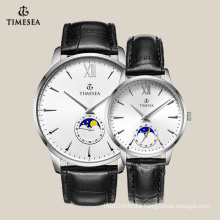Top Quality Genuine Leather Couple Lover Wrist Branded Watch 70018
