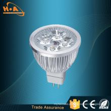Alta Luminosa Calor Dissipar Prata LED Spotlight Lamp