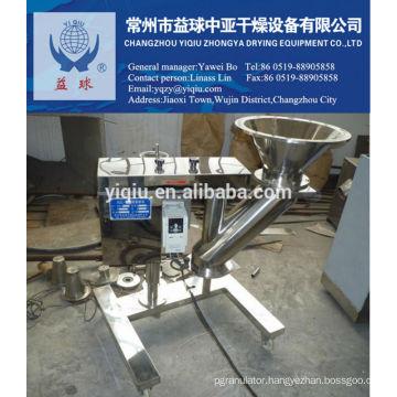 Machine for foodstuff and pharmaceutical granulator
