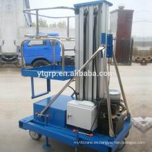 Plataforma elevadora hidráulica de mástil de aluminio única