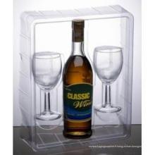 Emballage en plastique pour la coupe de vin et de verre