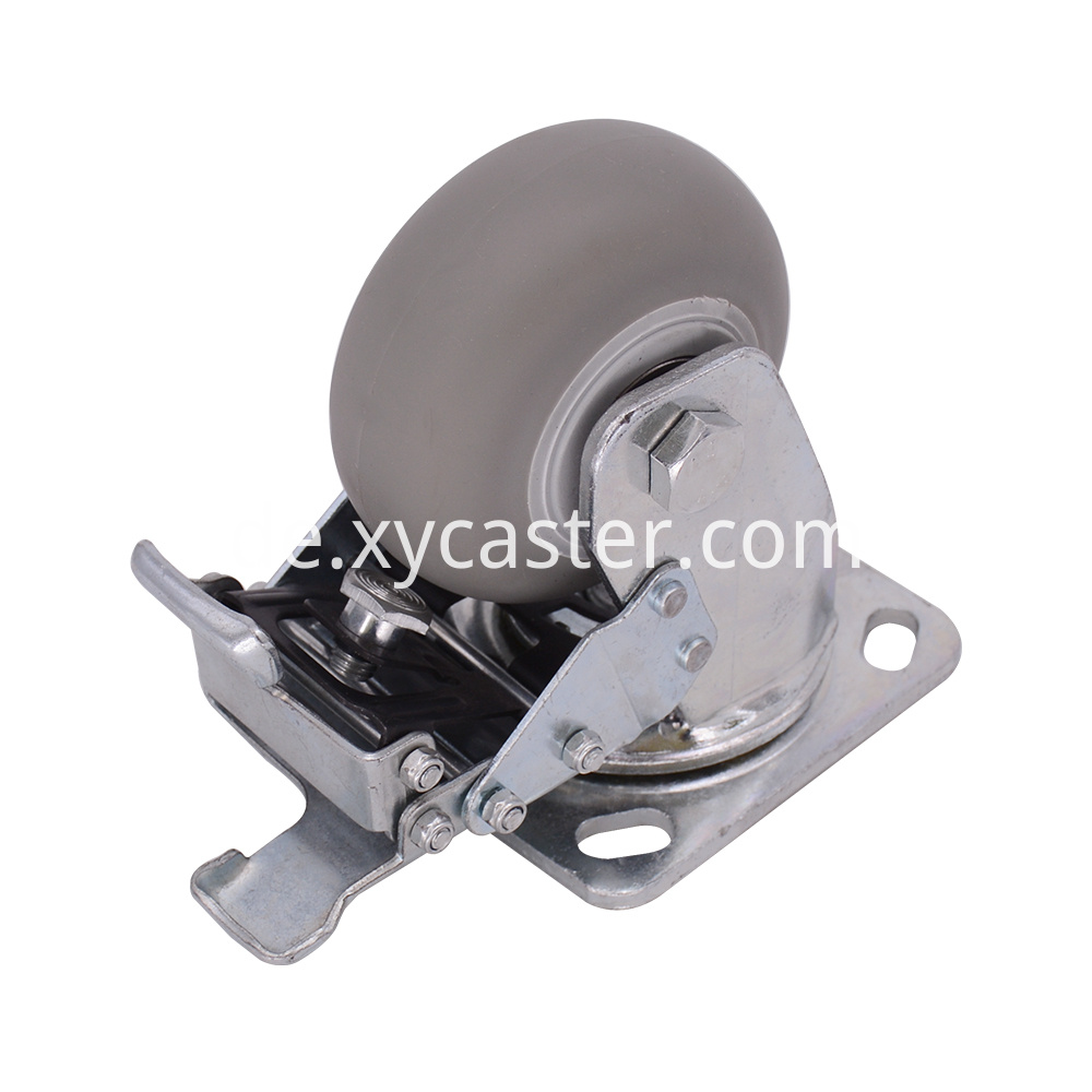 4 Inch Tpr Caster With Brake