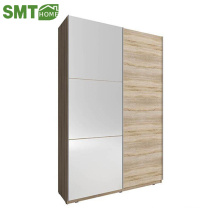 Modern simple project wooden wardrobe with mirror designs