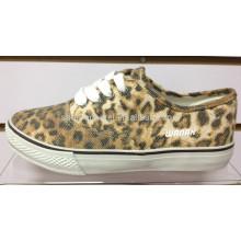 2014 leopard print cloth shoe leopard print vulcanize shoes leopard print canvas shoe
