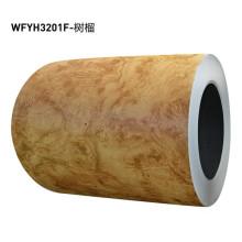 Film PVC laminé en acier à grain de bois