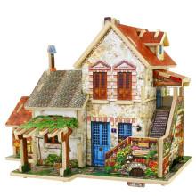 Brinquedos de brinquedos de madeira para casas globais-França Farm House