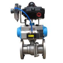 Tipo de conjunto brida válvula de bola con válvula de solenoide de caja, Frl, de interruptor de límite