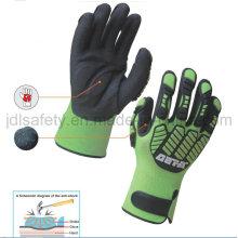Hi-Vis Yellow Anti-Impact Work Glove with TPR (TPR9003)