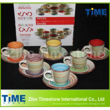 Дешевые Керамическая чашка чая с блюдцем Оптовая