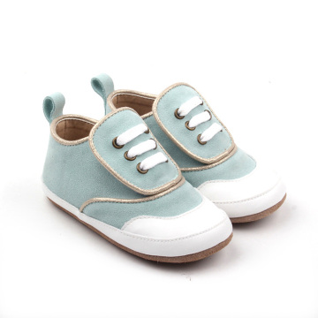 Fancy Design Powder Blue Oxford Babyschuhe
