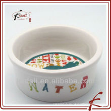 2011 nuevo estilo porcelana pet bowl