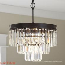 Lustre de luxe pour lustre en cristal de salle à manger lumineuse