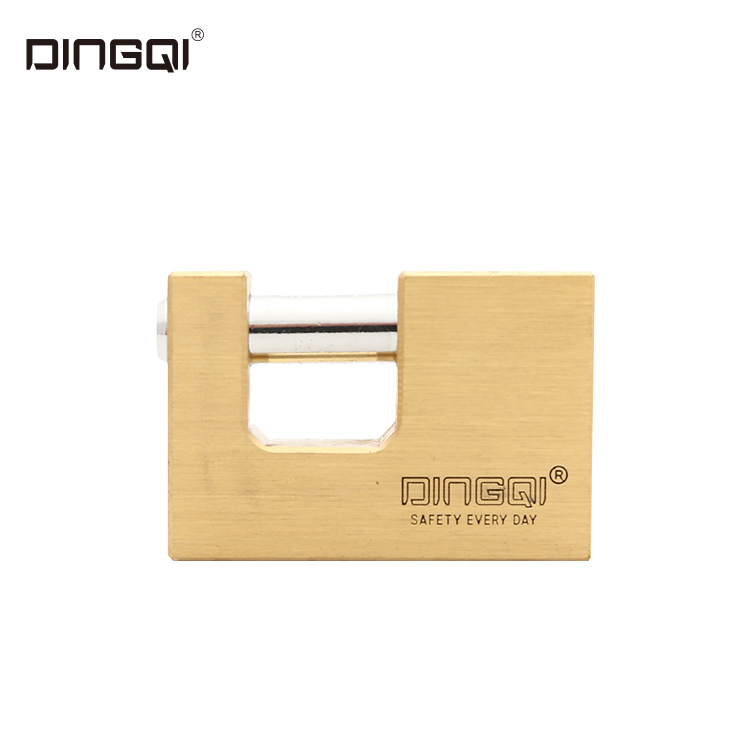 Dingqi Top Security Rectangular Lock Three Side Dotted Computer Key Brass Padlock Copper Lock OEM Acceptable 80mm,or Custom