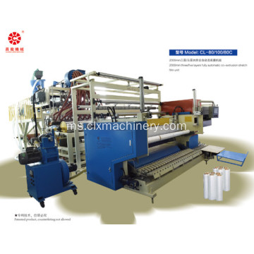 Lapisan Double 2000mm Cast Stretch Film Extruder