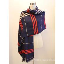 Senhora fashion viscose tecido jacquard franjas xale (yky4411)