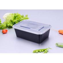 Récipient d'emballage alimentaire jetable en plastique noir de couleur de Dispo