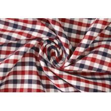 Marron/marine contrôles sergé Polyester tissu de coton 40 60 pour chemises