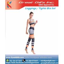 Sublimation Sports bra and leggings tights yoga set sexy sports uniform