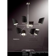 New Design Black Fabric Shade Chandelier Hanging Light (P6405-4+4)