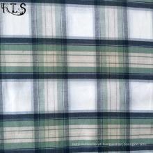 Poplin de algodão tecida de fios tingidos tecidos para vestuário camisas/vestido Rls40-1po