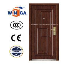 Classic Design Security Steel MDF madeira folheada porta blindada (W-A3)