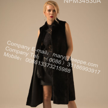 Kvinnor Reversible Kopenhagen Mink Vest Winter