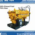 Honny Branded Dual Fuel Generator (diesel fuel, HFO fuel, Nature Gas)