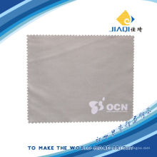 optical cleaning cloth with silver stamping