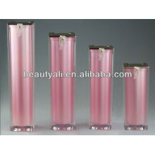 square acrylic airless bottle for cosmetic packing