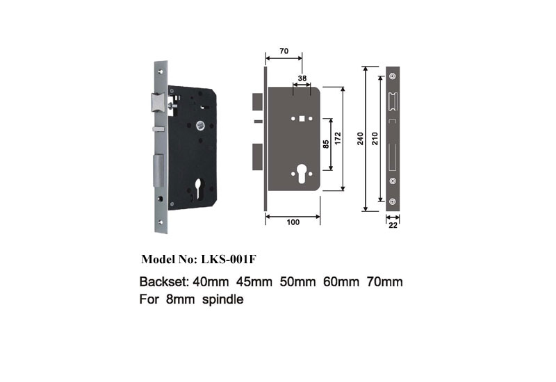 European Style Motise Lock Fire Escape B
