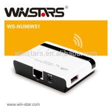 Wireless USB Multifunktionsdruckerserver, 802.11b / g / n Wireless Networking