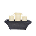 Table fontaine bougie 3pcs rectangle