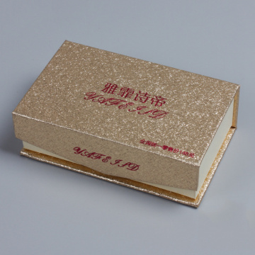 Bling Flip Magnet Cardboard Gift Box for Cosmetic