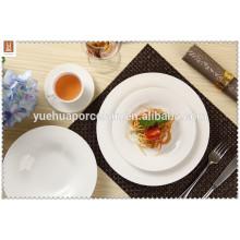 2015 Китай Керамическая белая гостиница Б / у Масштабная обеденная тарелка
