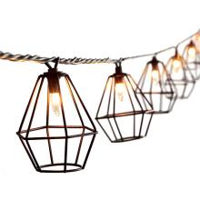 8.5FT 10 ampoules 110V métal diamant jardin lumière