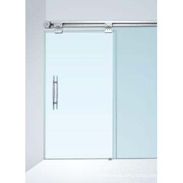 Lightweight Double Sliding No-Frame Semi-Automatic Door