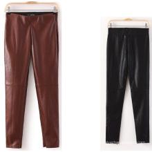 2015 Späteste Art- und Weiseherbst-dünne Frauen-Leder-Hosen
