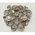 Vintage Rhinestone Shoe Clips with Pearl Trim