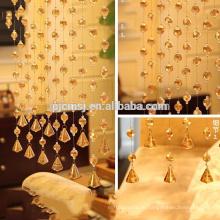 горячий продавать кристалл золотое шампанское золото бусины занавес висит кристалл для украшения дома экологичный